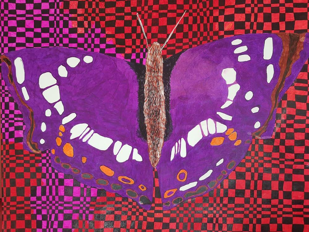 Abstract Art Purple Butterfly